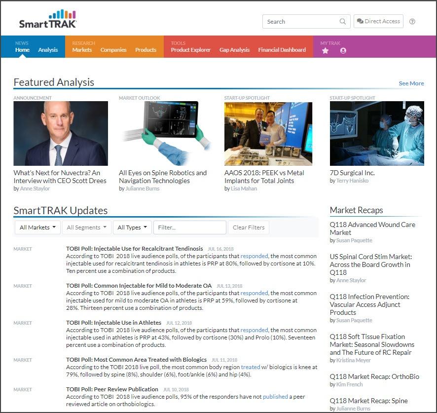 SmartTRAK 3.0 Home Page