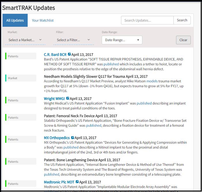 SmartTRAK Updates